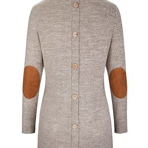 Khaki Gray Back Button Tunic